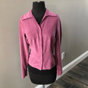 Pink Jacket Cardigan Button Down Petite Small 6/8